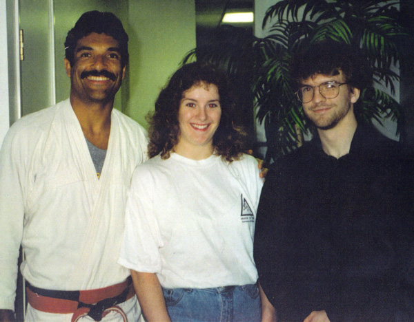 Rorion Gracie and I in the reception area of the Torrance Gracie Jiu-jitsu Academy-circa 1992