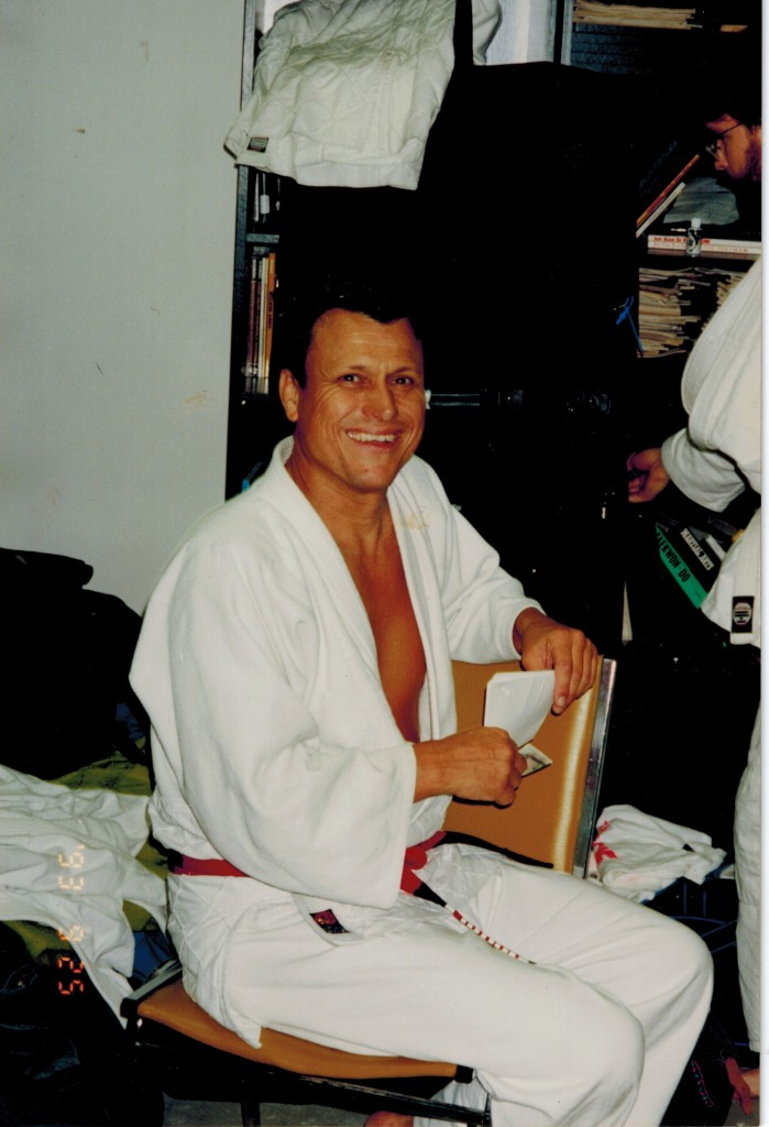 Reylson Gracie and I, discussing the finer points of jiu-jitsu, in my back office/living area at the Aldergrove Acedemy of Martial Arts-1993. At that time he was an 8th degree Red and black belt and the highest level Brazilian Jiu-jitsu instructor in North America.