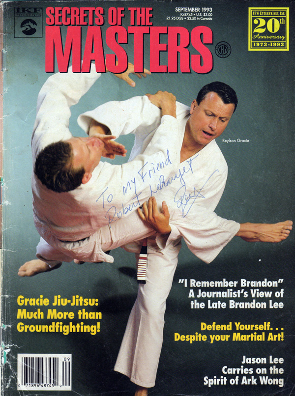 Reylson Gracie and Ken Gabrielson on the cover of a martial arts publication pre UFC period.