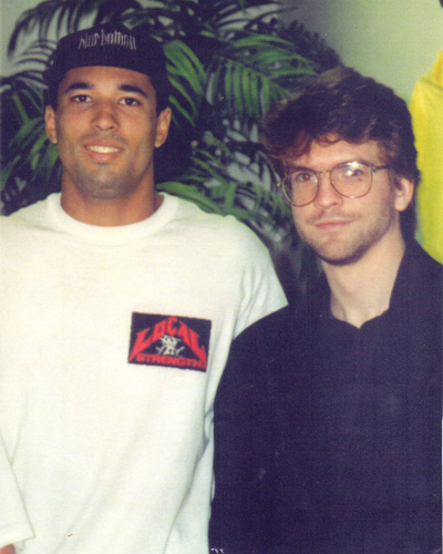 Royce Gracie and I at the Torrance Gracie Jiu-jitsu Academy-circa 1992. Royce was still some time away from becoming the first UFC champion and one of the world's most well known martial artists. At the time neither of us could know how BJJ would grow into a world wide movement.