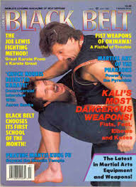 "Paul Vunack on the cover of ""Black Belt"" Magazine-early 1990s. ""Black Belt"" magazine was the oldest and most widely circulated North American martial arts magazine of that periode."